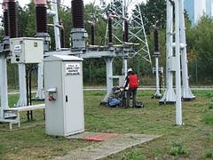 Badania w stacji elektroenergetycznej