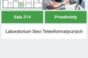 System beaconów na Wydziale Elektrycznym: okno aplikacji z dostępnymi opcjami
