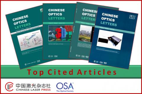 Czasopismo Chinese Optics Lettes - informacja o umieszczeniu na liście Top Cited Articles