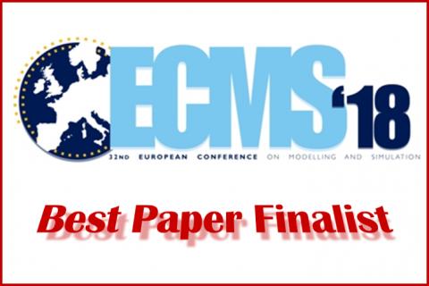 Konferencja naukowa ECMS 2018: wyróżnienie za artykuł naukowy