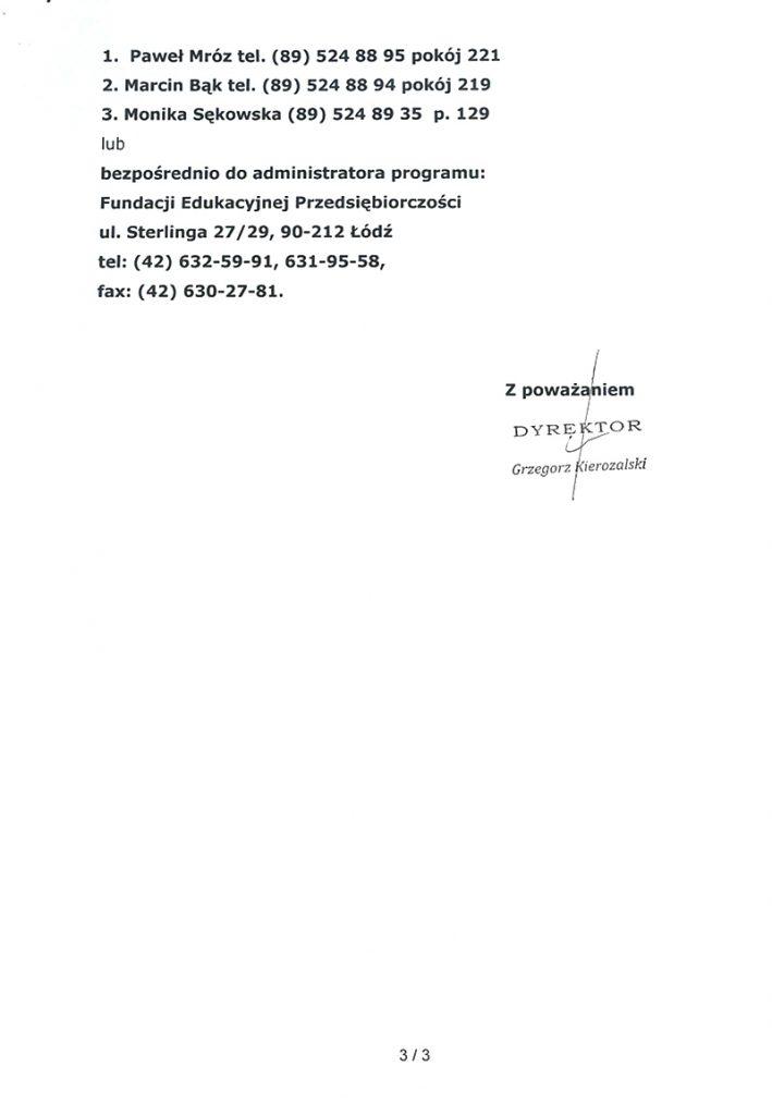 Pismo z Krajowego Ośrodka Wsparcia Rolnictwa, strona 3
