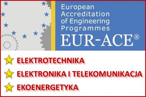 Certyfikaty EUR-ACE dla kierunków studiów prowadzonych na Wydziale Elektrycznym
