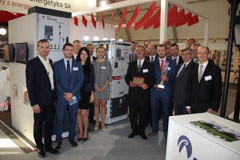 Załoga firmy Elektrometal Energetyka S.A. na targach ENERGETAB 2018