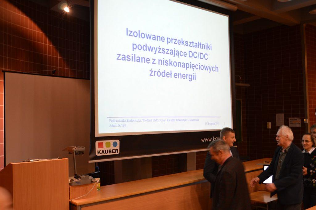 Publiczna obrona doktoratu mgr inż. Adama Krupy w dniu 14 listopada 2018 r.