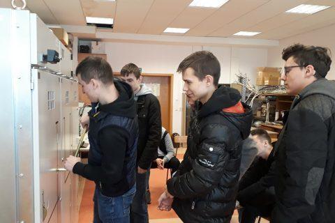 Wizyta uczniów ZSM Łapy