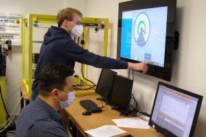 Laboratorium automatyki przemysłowej.